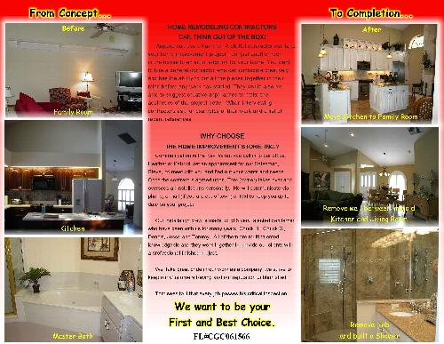Our Brochure - The Home Improvement Store, Inc.
